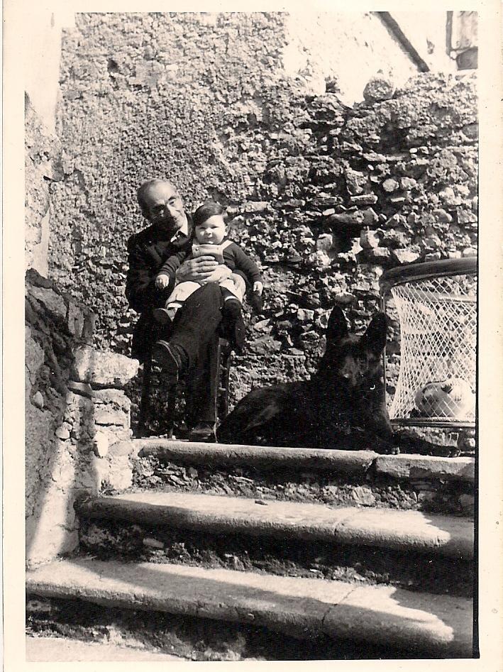 Francesco e nonno Domenico. 1973